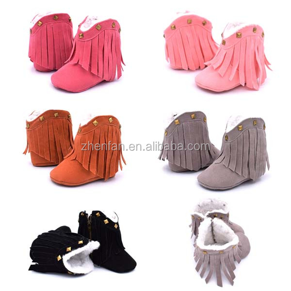 winter fancy fashion thick baby shoes booties