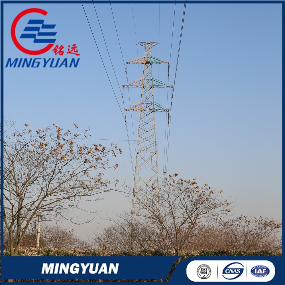 HDG 110kv transmission line steel tower manufacturer