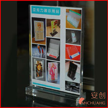 Upright Vertical Sign Holder _Slant Back Clear Acrylic Economy Sign Holde