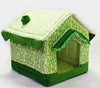 Wholesale Cute Pet Dog House Soft Foam Padded Detachable Folding Small Dog Kennel Cat Bed