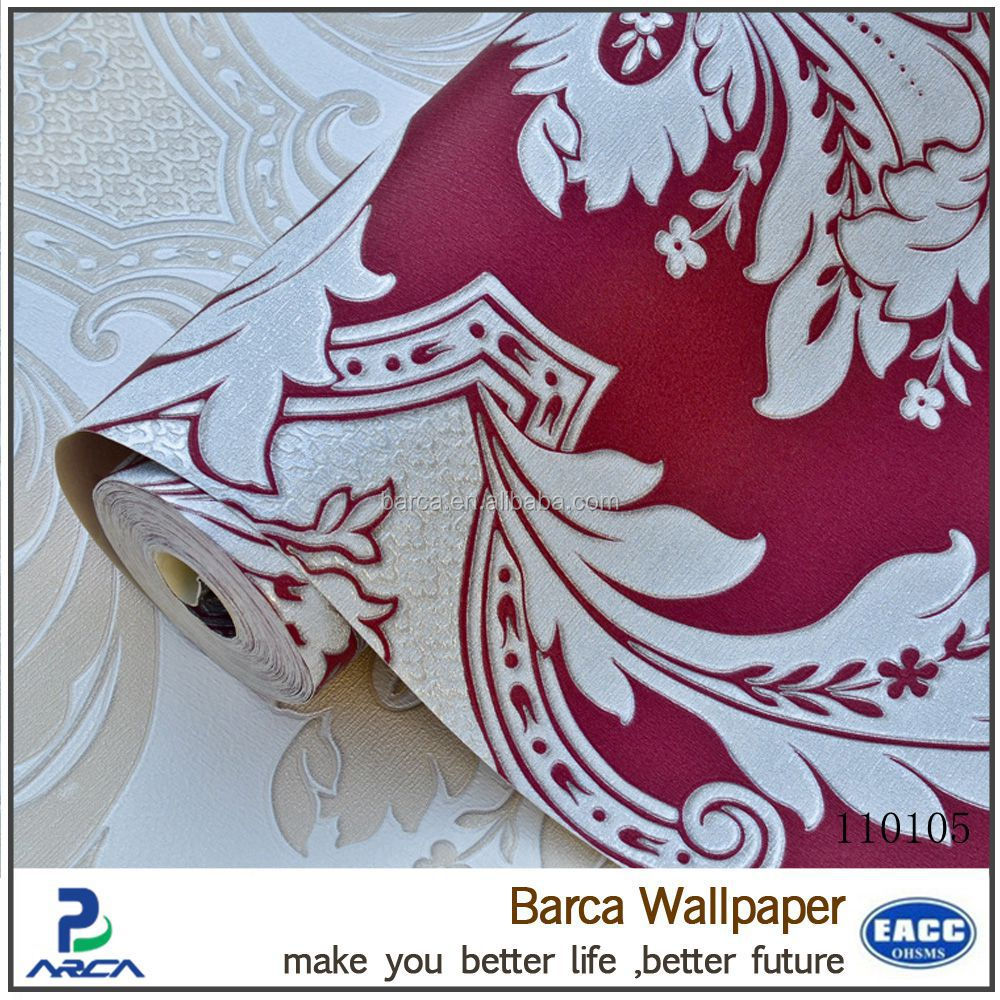 most popular papel pintado transpirable red and white wallpaper top sale