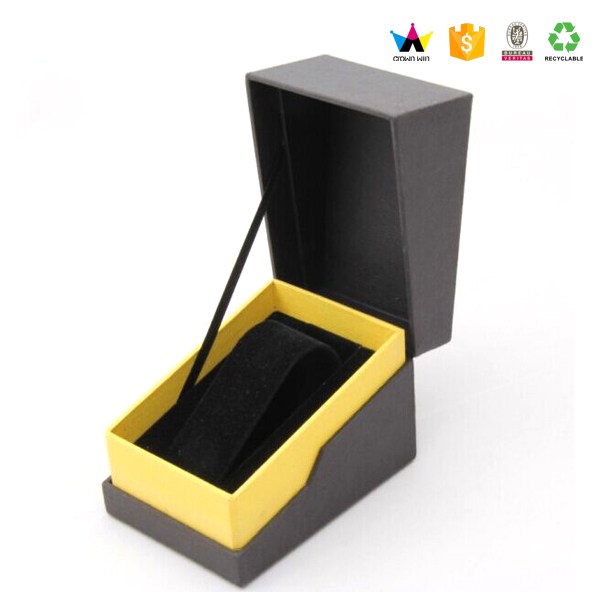 Luxury customized logo magnetic closure watch gift box