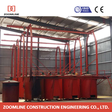 Professional high performance wood carbonization equipment with coupled furnaces
