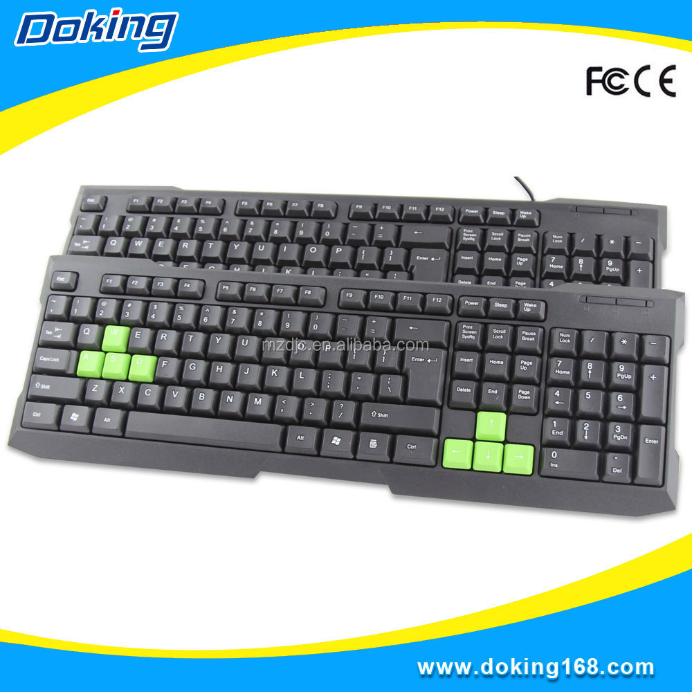 High key Best design Waterproof 107 keys touchpad wired keyboard