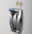 Drilling Free Stainless Steel Toothbrush Wall Bracket with 2 holes