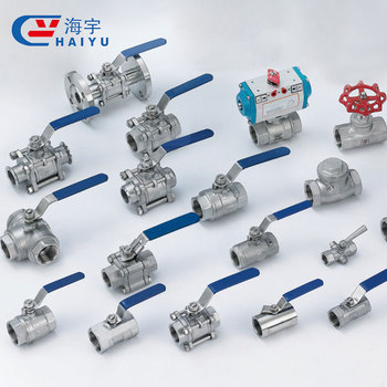 Low pressure sanitary manual 3-piece stainless steel ball valve