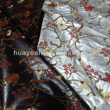 flower embroidery pu synthetic leather for sofa