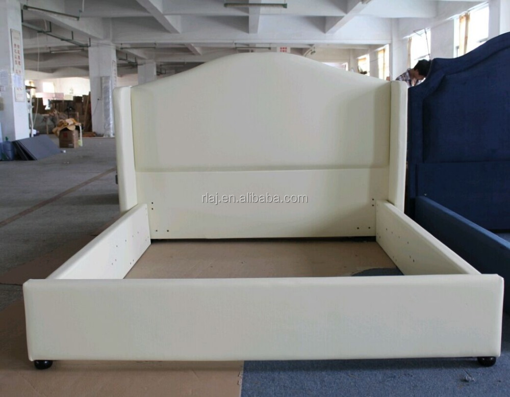 Modern white king size bedroom furniture for home and hotel leather bed