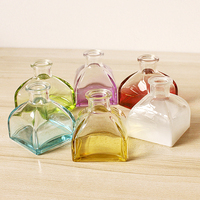 Wide mouth perfume reed diffuser glass bottle