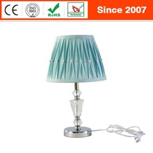 Modern crystal decorative metal elegant indoor bedside mini desk lamp
