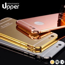Factory luxury aluminum metal bumper frame mirror mobile phone case cover for iphone 5 5s 6 6s