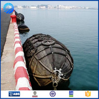 Qingdao made boat accessories cylindrical rubber inflatable dock fender