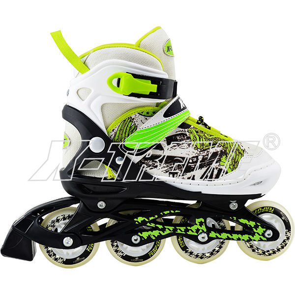 Promotion good quality PU wheel inline&quad skating boot 2 in 1