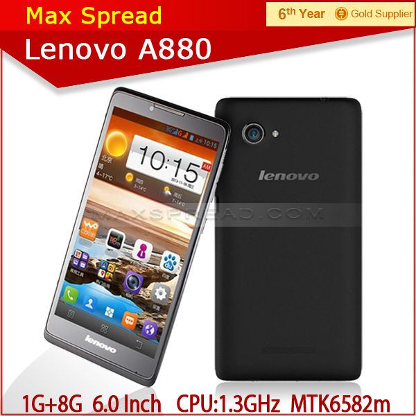 lenovo a880 6 inch screen android4.2 mtk6582 quad core phone