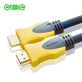 yitaili 10m 19+1 yellow double colors nylon braid4k 1.4/2.0 hdmi cables