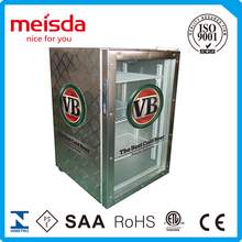 Upright commercial beverage refrigerator for supermarket equipment
