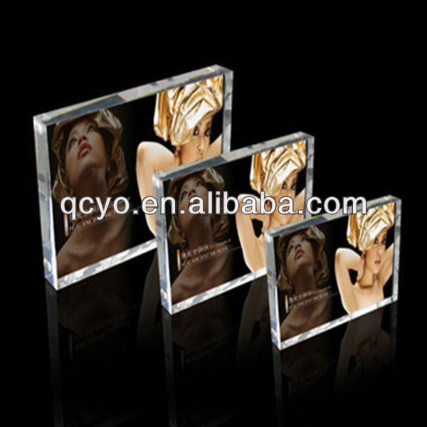 2015 acrylic glass new design bulk picture frame