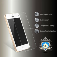 Clear Tempered Screen Protector/Guard/Ward For Apple Iphone 5/5S