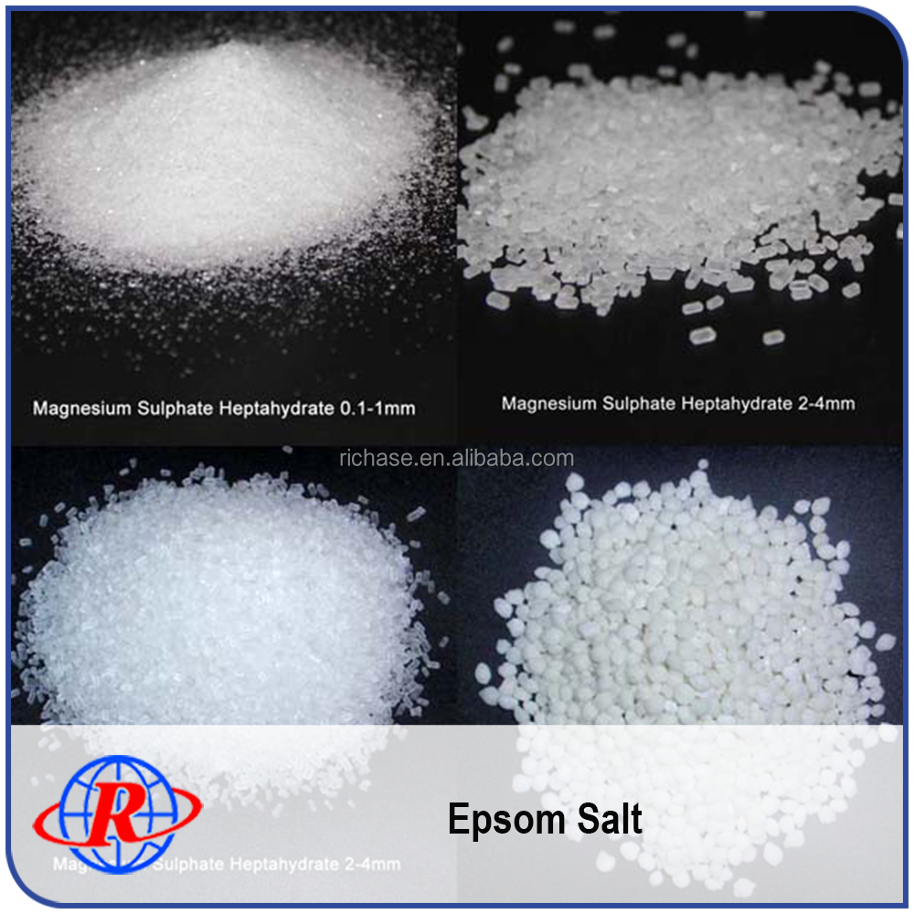 Low Price Magnesium Sulfate Uses MgSO4 7H2O Bitter Salt 98% 2-4mm White Little Crystal