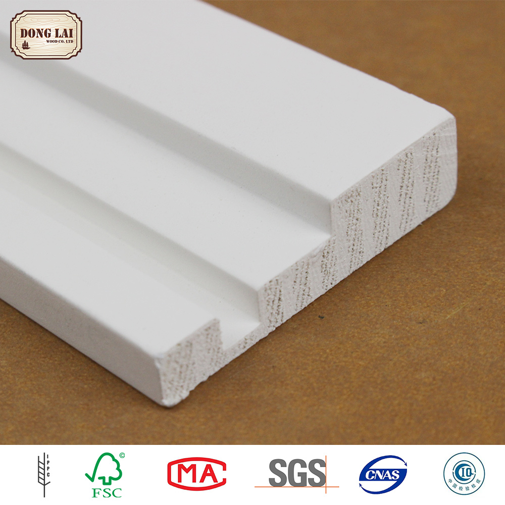 Custom Waterproof Solid Chinese Fir Warehouse Building white gesso primed finger Jointed