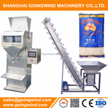 Semi automatic 5kg rice packing machine 10kg 50kg grains bag filling packaging machinery good price for sale