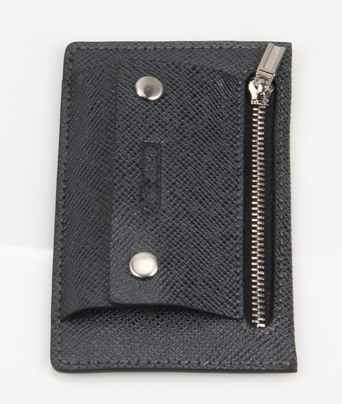 Popular genuine leather car key case with hook