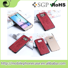 Hot Selling Import China Products PU+PC mobile phone back cover For Samsung S6
