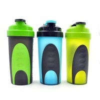 high quality custom logo drinking bottle joyshaker silicone bottle cover with top lid