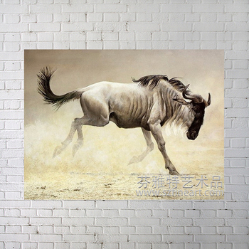 Impressionist animal of running horse oil painting on canvas