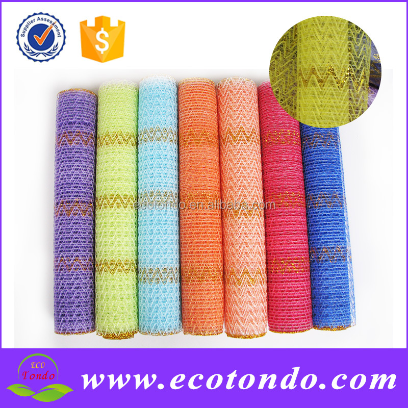flower decoration deco poly wire mesh roll for making wreath