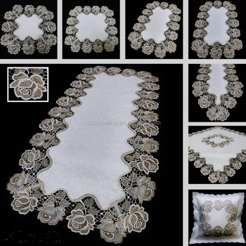 jacqurd satin fabric lace tablecloth