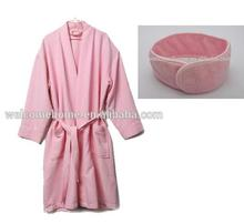 China wholesale beauty salon bath towel gift set microfiber robe head band