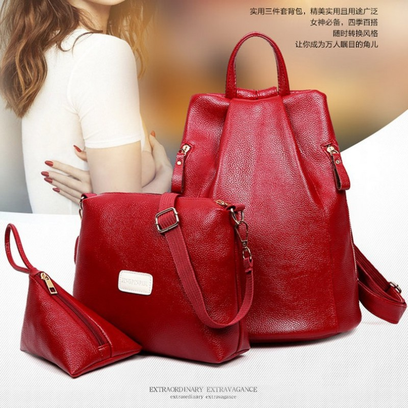 2017 new value of the sub-package 3pcs set bag online shopping