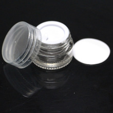 New style with hight quality 5ml clear container with white lid dabber tool use container butane hash oil silicone container