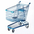 130L style shopping trolleys with four wheels for wholesale