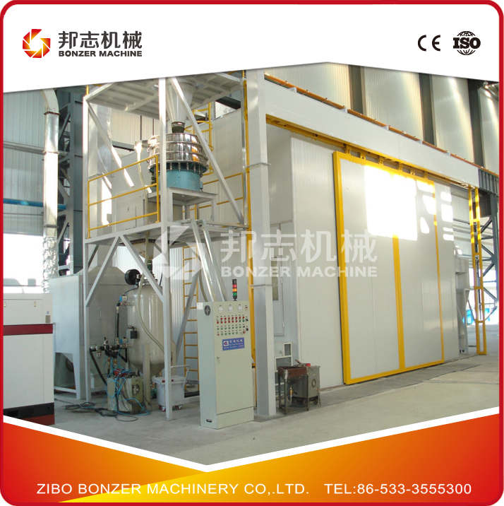 Automatic Recycling Air Sand Blasting Room for Boat Deck