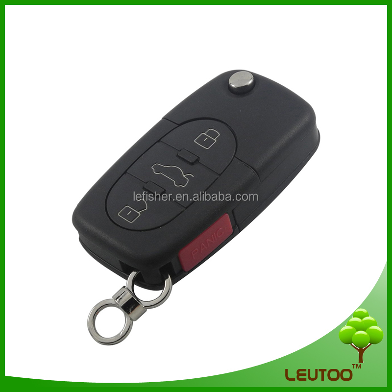 FOR oooo A4 A6 A8 S4 S6 S8 CABRIOLET ALLROAD TT 3 + PANIC BUTTONS FLIP FOLDING KEY FOB SHELL REPLACEMENT CASE WITH STICKER
