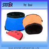 any colours for choice portable wholesale folding travelling dog bowl made in China