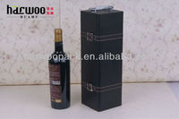High Grade Classical Black Leather Wine Carry Case in 2014