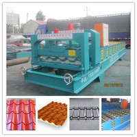 Full Automat 1100 Classic Alu Zinc Plating Colored Steel Profile Glazed Tile Metal Roofing Forming Machine