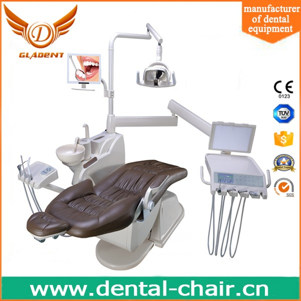 Popular Hot selling Floor-fixed 9 memory touch screen leather dental chair