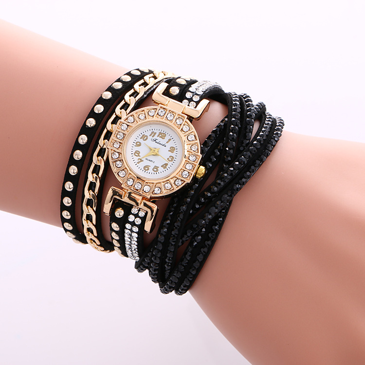 Fashion Leather Women Quartz Wrist Watch For Lady Wholesale NSWH-0001