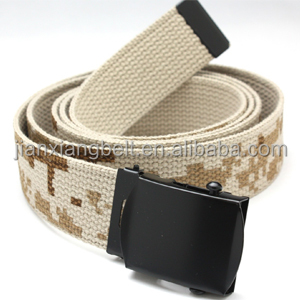2014 NEW DESIGNED FASHIONABLE HIGH QUALITY ADJUSTABLE PRINT 38mm COTTON ARMY BELTS