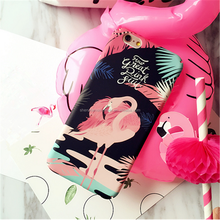2016 Water paste matte hard Plastic Flamingo Full Protective Back Cover Case For Iphone 7