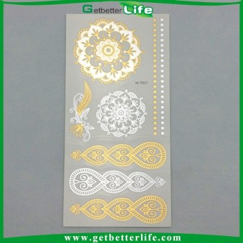 2015 getbetterlife Newest gold tattoo/metallic flash tattoo/temporary tattoos wholesaler