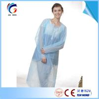 with factory price Kitchen cleaning single use economy white isolation gown