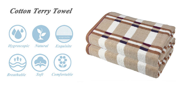 china supplier woven 100%  cotton american aztec butt face towel