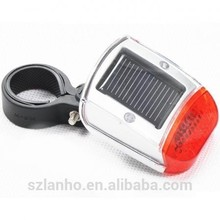 Solar Power Bike Bicycle Cycling Rear Back Tail Red LED Flash Light