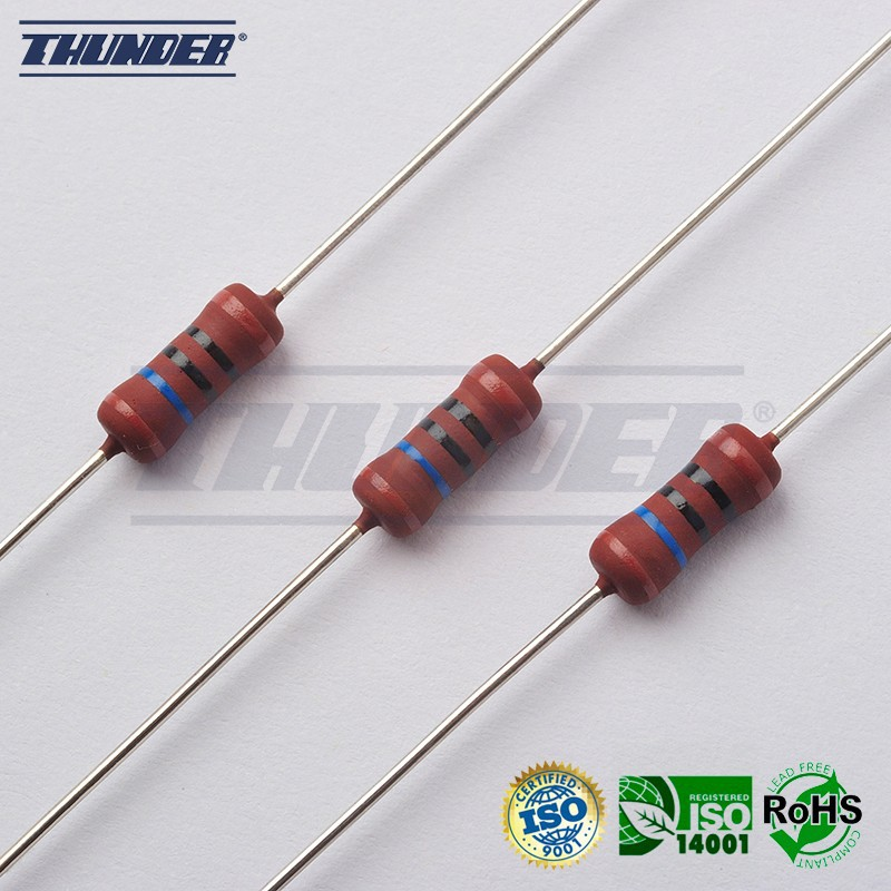 FRN Series - 5W Fixed Metal Glaze Film Flame Proof Resistors (High Voltage / High Resistance Value)