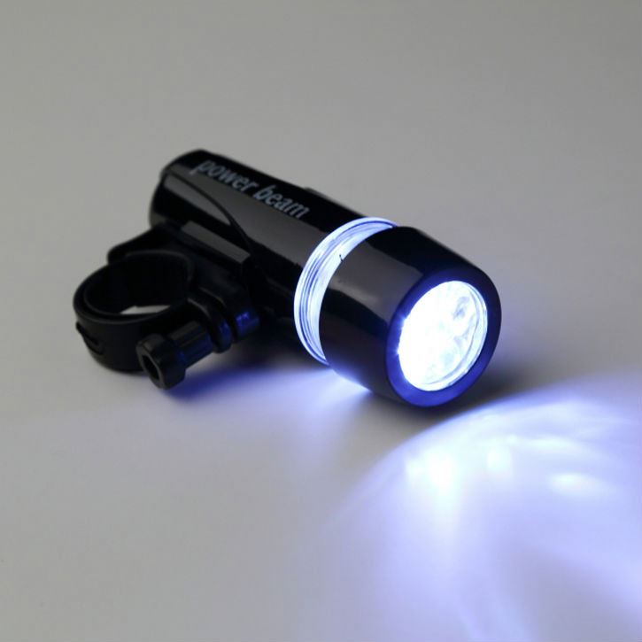 New Black Bike Bicycle Head Light 5 LED Power Beam Front Motorcycle Head Torch Light Lamp